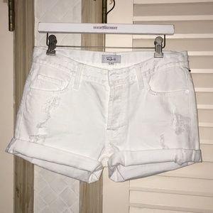 NWOT Rails white jean shorts distressed denim